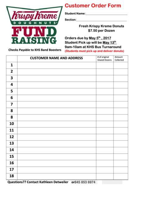 Printable Krispy Kreme Order Forms | top 9 krispy kreme order form templates free to download