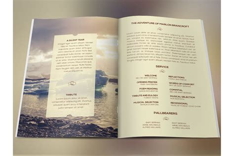 photoshop program template nature funeral program photoshop templa design bundles