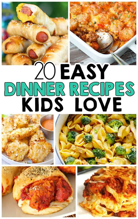 easy dinner recipes  kids love yum yum meals kids love easy meals  kids easy