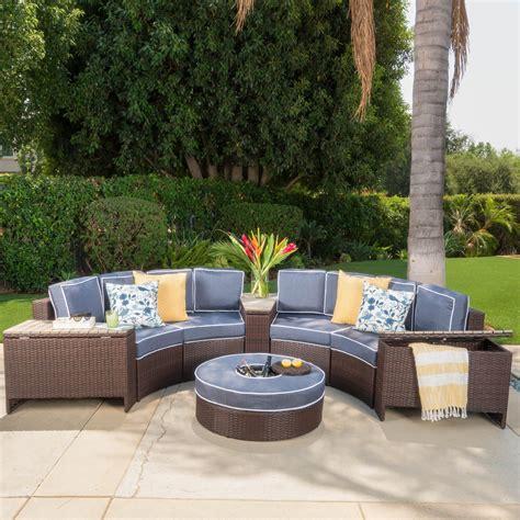 riviera patio furniture store riviera otranto outdoor patio furniture wicker 8 semicircular sectional sofa
