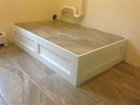 diy washing machine pedestal with drawers pedestal for washer dryer storage ideas