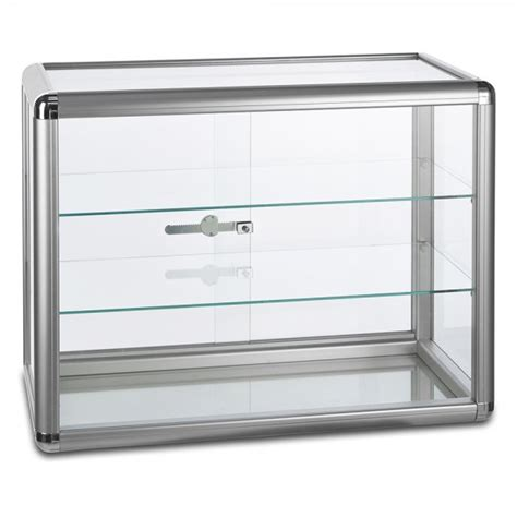glass display cabinet with lock aluminium glass countertop display cabinet with 2 shelves