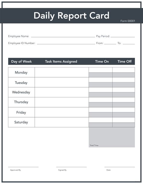 editable report card template free daily report card template in adobe photoshop adobe
