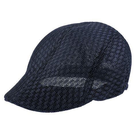 cool mesh summer gatsby cap mens hat golf driving sun