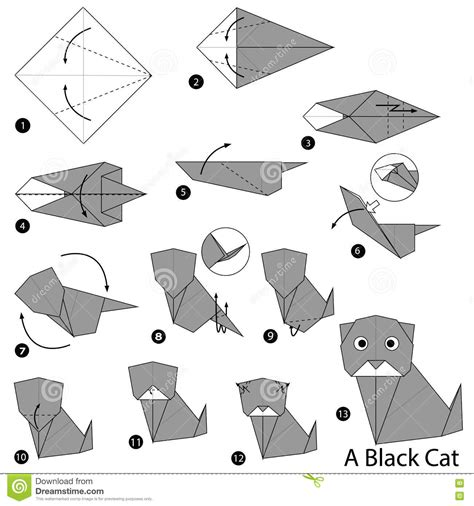 Origami Cat Step By Step - origami cat step by step tutorial origami handmade