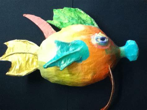 How To Make A Paper Mache Fish - paper mache fish crafts