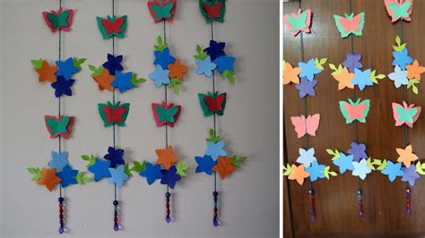 Hanging Paper Craft - paper butterflies for your wall decoration how to make