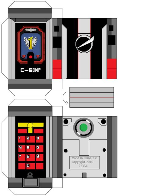 How To Make A Paper Power Ranger Morpher - rpm phone by mmpr97 on deviantart