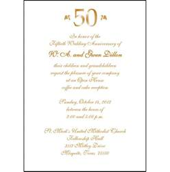 25 personalized 50th wedding anniversary invitations