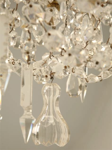 vintage french crystal chandelier   stock   plank