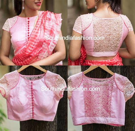 latest blouse pattern with net latest net blouse designs for sarees south india fashion