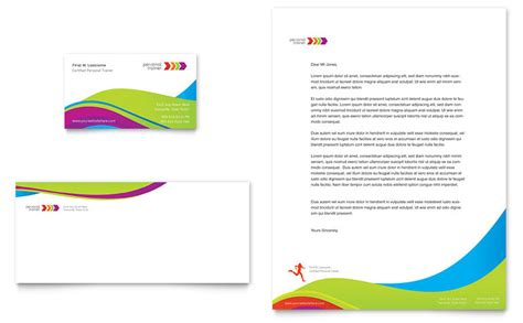 personal trainer business card letterhead template