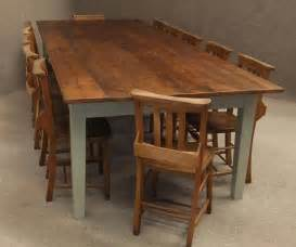 Pine Kitchen Tables Large Rustic Pine Kitchen Table