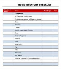 Sle Word Document Templates by 28 Inventory Checklist Template 22 Free Inventory