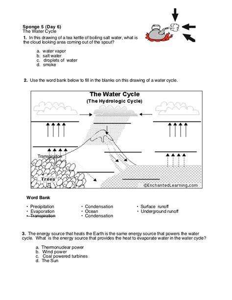 Hydrologic Cycle Worksheet by Hydrologic Cycle Worksheet Wiildcreative
