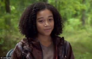 the hunger games star amandla stenberg shows off her hair