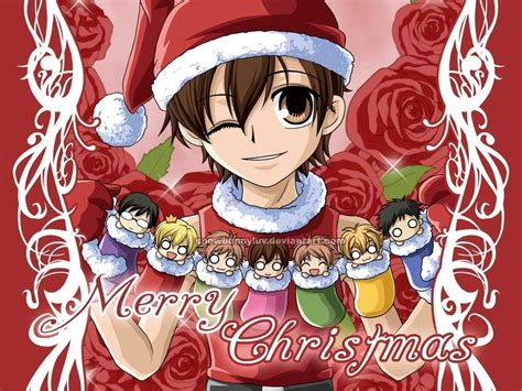 ouran christmas ouran high school host club wallpaper
