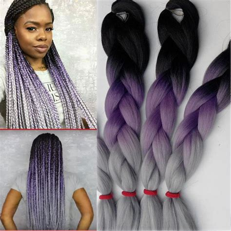 grey braiding extensions cheapest braiding hair black purple grey 100g 10pcs