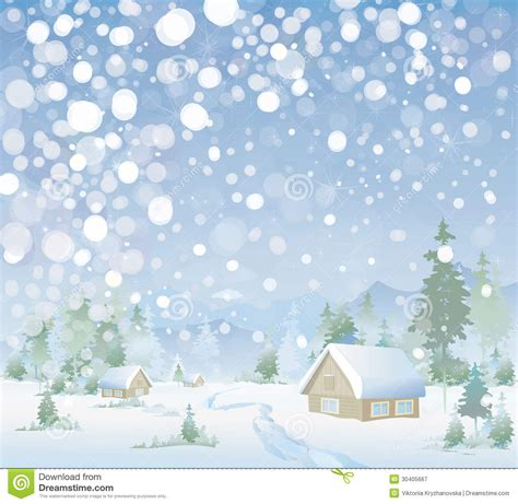 vector  winter landscape merry christmas stock vector illustration