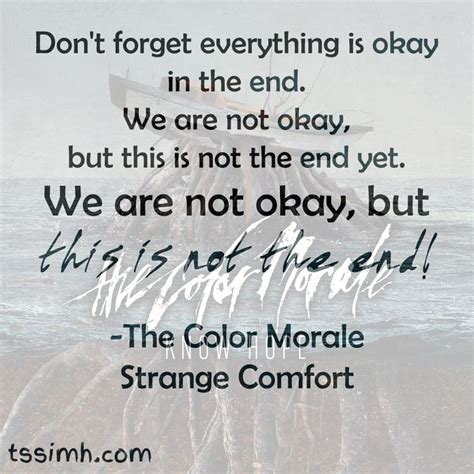 The Color Morale Strange Comfort Lyrics 30 best images about the color morale on hold