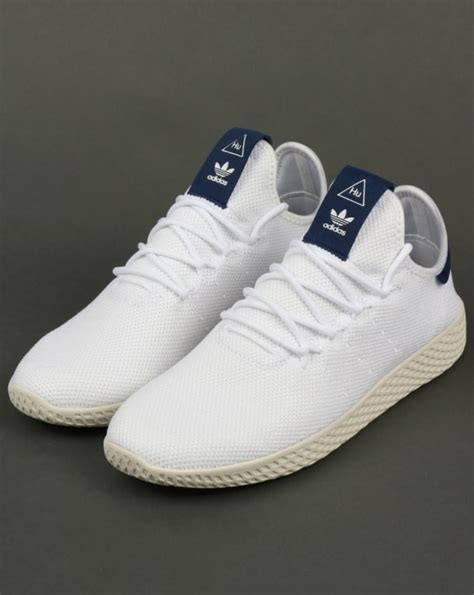 adidas pw tennis hu trainers whitenavypharrell williamsshoes
