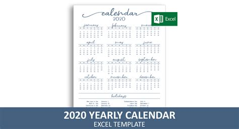 elegant yearly calendar excel template savvy spreadsheets