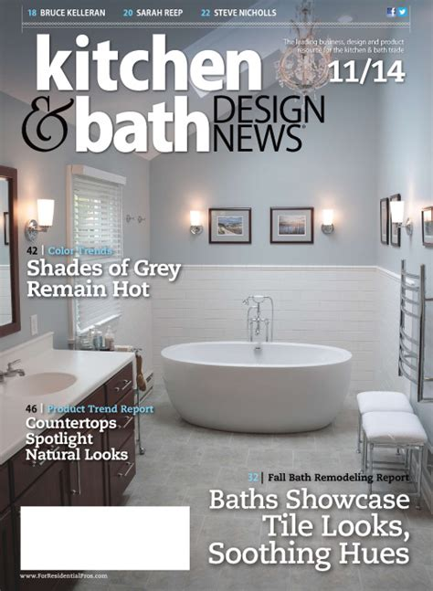 kitchen and bath design news kitchen bath design news november 2014 187 pdf magazines