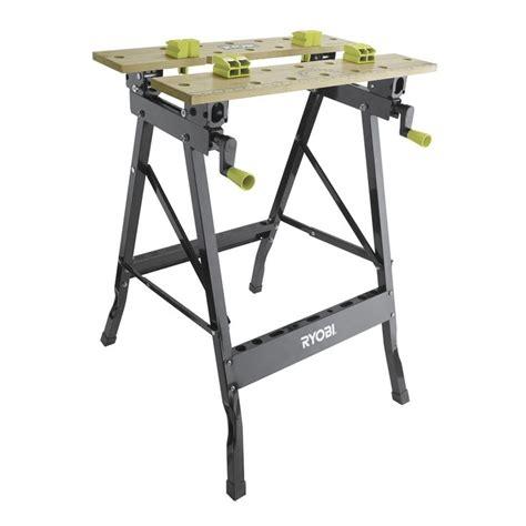 bench drill bunnings ryobi foldable workbench with adjustable angle i n 5820681