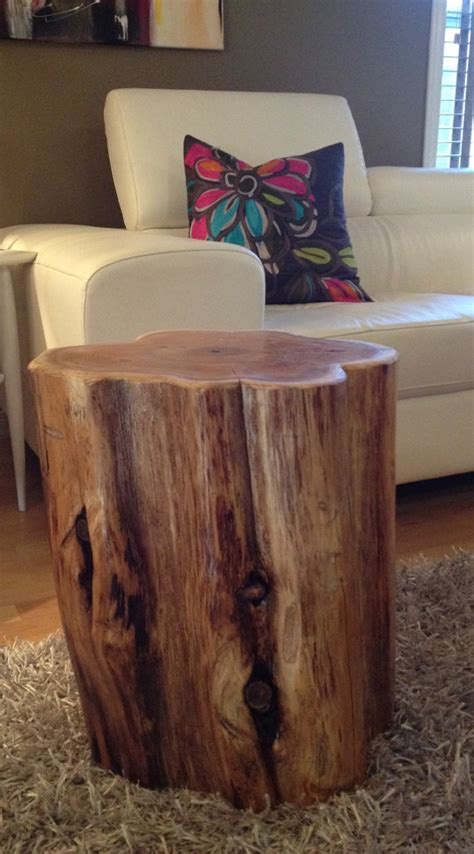 Wood Stump Coffee Table Large Wood Stump Side Tables End Tables Coffee Tables Rustic Furniture Eco Friendly Furniture