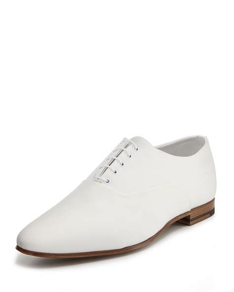 white oxford shoes mens laurent lulu canvas oxford shoe white in white for