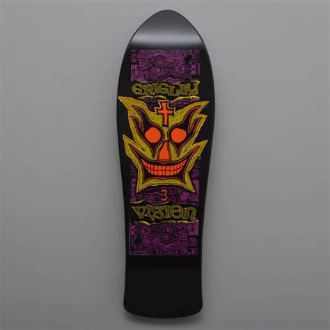 reissue skateboard decks vision skateboards grigley 3 reissue black dip