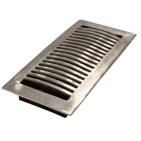 decor grates 4 in x 10 in wood oak louvered