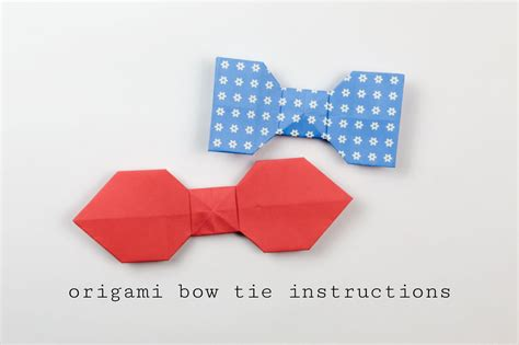 How To Make Paper Bow Ties - easy origami bow tie tutorial