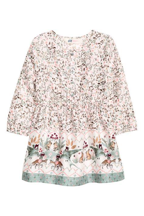light pink pattern dress patterned dress white light pink sale h m us
