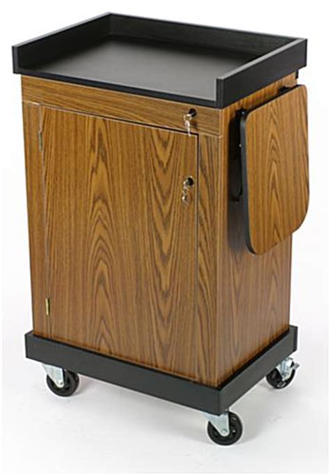 multimedia cart with locking cabinet a locking presentation lectern offers security for your