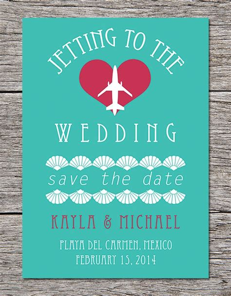 save the date for destination wedding printable save the date card destination wedding