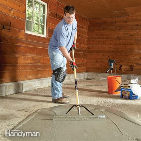 garage floor resurfacing fix  pitted garage floor  family handyman