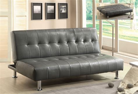 Gray Futon by Bulle Gray Leather Futon Sofa Bed