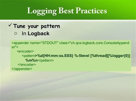 logback pattern class name loggingbestpractices