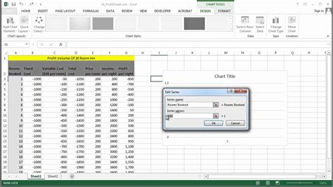 how to do a profit volume graph in excel using excel gt gt 15