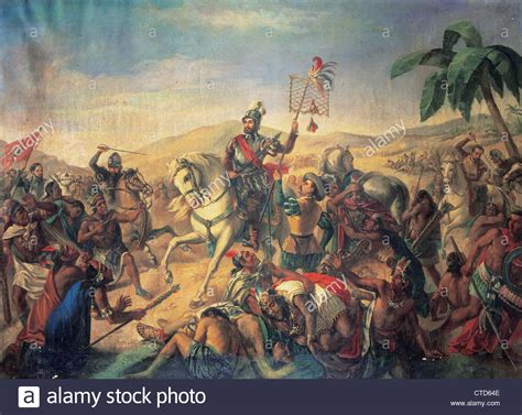 battle for madrid the battle of otumba anoyimous painting army museum madrid spain stock photo royalty free
