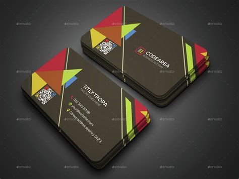 triangle shaped business card template triangle shape business card by murtalawork graphicriver