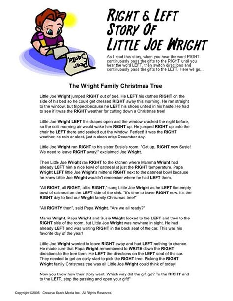 printable christmas right left game left right christmas exchange poem share the knownledge