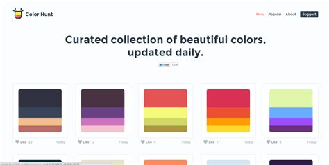 color hunt 12 fresh color resources for designers