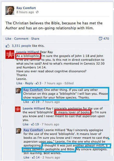 ray comfort facebook bibliophile bits and pieces