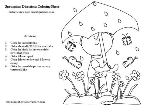 printable written directions 9 best images of following directions coloring worksheets