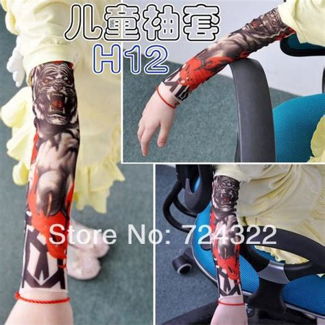 ts 118 2015 elastic fake temporary tattoo sleeve germany dragon stocking promotion shop for promotional dragon