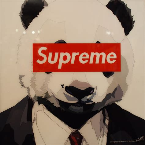 Red Room Colors panda supreme poster plaque mounted infamous inspiration