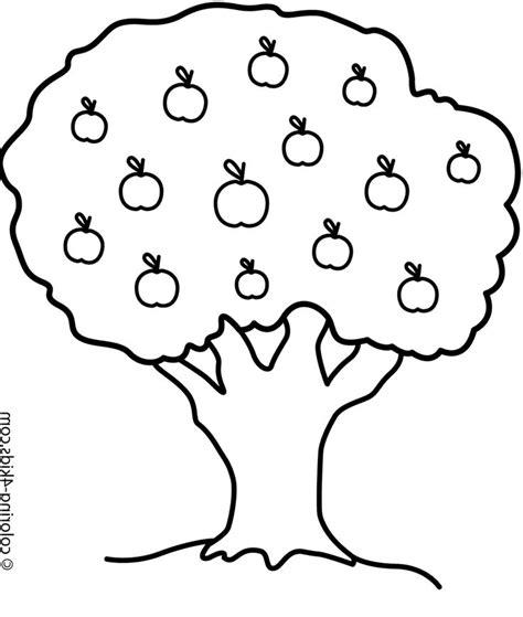 mewarnai gambar pohon berbuah apel and books