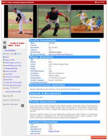 Sports Profile Template by Playerprofilesonline Youth Sports Profiles For
